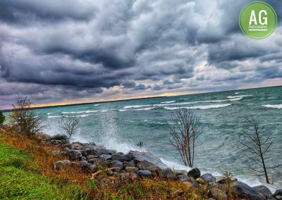 Onset of a storm by the Lake || by AG Fotography