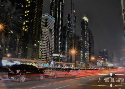 Streaks of Light in downtown Dubai, UAE || by AG Fotography