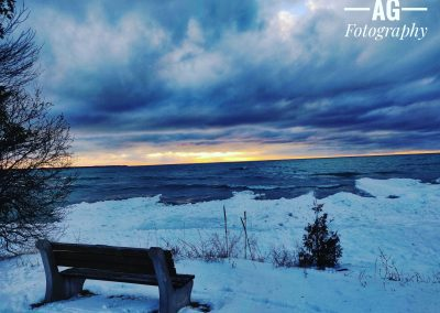 Sunset by the Lake during the Winter || by AG Fotography